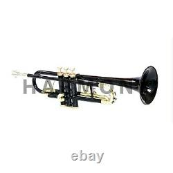 Professional Bb Trumpet Black Brass Expert's Choice with Hard Case & Mouthpiece