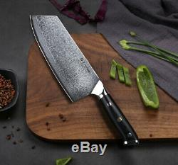 Professional Cleaver Gyutou Japanese Damascus Steel High Quality chef knife 7.5