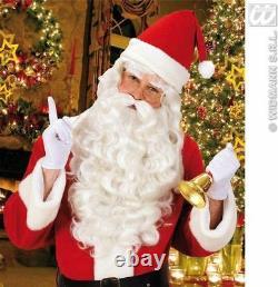 Professional Quality Santa Claus Father Christmas White Wig Beard Fancy Dress UK