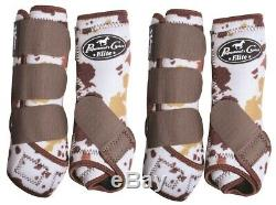Professional's Choice Cowhide VenTECH Elite Value 4 Pack Boots with Bells M Pro