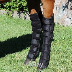 Professional's Choice Full Leg Ice Boots withfrozen gel pockets cold therapy horse