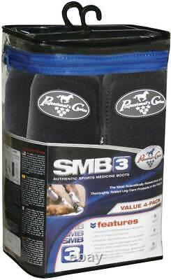 Professional's Choice SMB-3 Value Pack Front & Rear Black M Sport Boots Pro SMB3