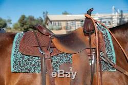 Professional's Choice Script Air Ride Comfort Fit Western Saddle Pad Pro 33x38