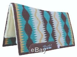 Professional's Choice Serpentine Comfort Fit SMX AirRide Saddle Pad Coffee 30X34