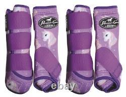 Professional's Choice Unicorn VenTECH Elite Value 4 Pack Boots with Bells M Pro
