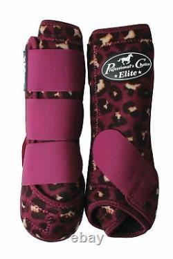 Professional's Choice VenTech ELITE Value 4 Pack Boots & Bell Wine Cheetah M Pro