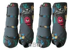 Professional's Choice VenTech ELITE Value 4 Pack Llama M Pro Horse Sport Boots