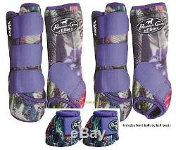 Professional's Choice VenTech ELITE Value Pack with Bell Boots Purpe Feather M Pro