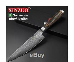 Quality Professional Chef's Cooks Damascus Carbon Steel Kitchen Chopping Knife