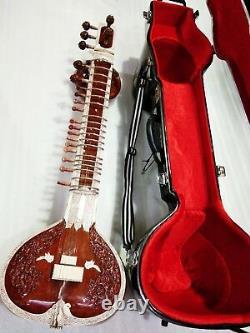 SITAR, highly professional concert quality Ravi Shankar sty handmade, w. Fiber box