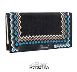 Shilloh Black Teal Professional's Choice SMx Show Air Ride Western Saddle Pad