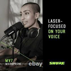 Shure MV7 Ultimate Pro Mic Podcast Bundle Pro Tools 1st & Studio One 5 Prime