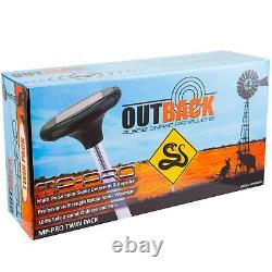 Snake Repeller Outback MPPLUS PRO 4pc Quality Solar MultiPulse Ultrasonic Raidar