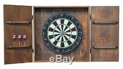 Solid Wood Professional High Quality Made Beautiful Dartboard Home Game Cabinet