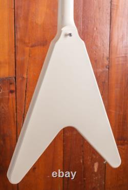 Starshine flying v white electric guitar custom mahogany body neck high quality