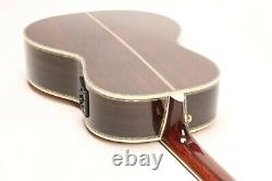 Top Quality Electric Acoustic Guitar Solid Red Spruce Top Full Abalone Inlay