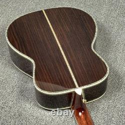 Top Quality OM Style 42 Solid Top&backside Acoustic Guitar Real Abalone Inlay