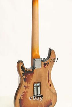Top Quality Relic SRV Electric Guitar Eged Hardware Alder Body Sunburst
