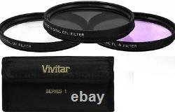 Vivitar White Line Pro Telephoto Telescopic Zoom Lens For Canon Eos Rebel Dslr