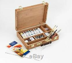 Winsor & Newton Artists Quality Professional Oil Colour Bamboo Wood Box